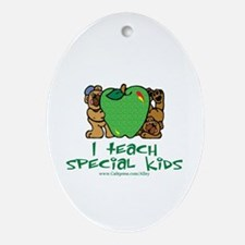 Teach Special Kids Oval Ornament