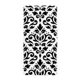 Black and white damask Beach Towels