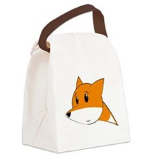 Funny Cute fox Canvas Lunch Bag