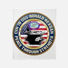 CVN-76 USS Ronald Reagan Throw Blanket