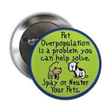Overpopulation Spay & Neuter Button