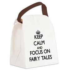 Unique Keep calm and carry yarn Canvas Lunch Bag