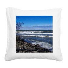 Lake View Scenery Square Canvas Pillow