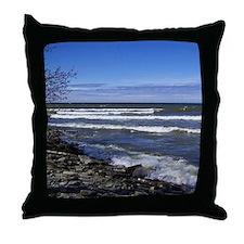 Lake View Scenery Throw Pillow