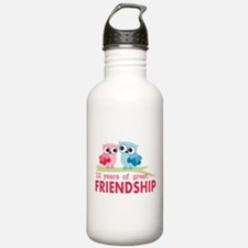 12th Anniversary Owl D Water Bottle