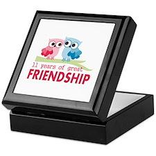 11th Anniversary Gifts for Them Keepsake Box