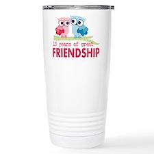 13th anniversary weddin Travel Coffee Mug