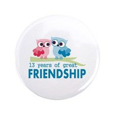 """13th anniversary wedding 3.5"""" Button (100 pack)"""