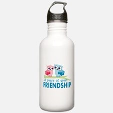 13th anniversary weddi Water Bottle