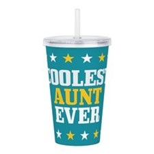 Cute Worlds best aunt Acrylic Double-wall Tumbler