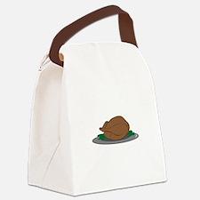 Turkey on Platter Canvas Lunch Bag
