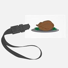 Turkey on Platter Luggage Tag