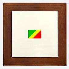 congo brazzaville flag Framed Tile