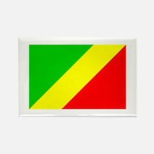 congo brazzaville flag Rectangle Magnet