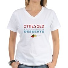 Cute Stressed spelled backwards Shirt
