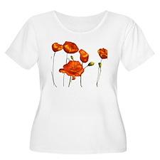Poppies Plus Size T-Shirt