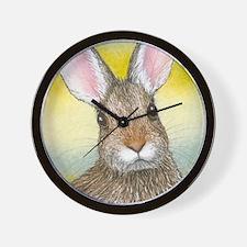 Cute Rabbit art Wall Clock