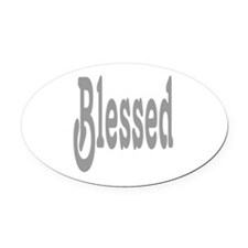 Blessed Oval Car Magnet