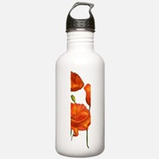 Cute Rememberence day poppy Water Bottle