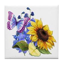 Sunflower Mix Tile Coaster