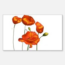 Poppies (orange) Decal