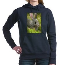 Unique Bunny rabbit Women's Hooded Sweatshirt