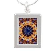 Digital Southwest Design Silver Portrait Necklace