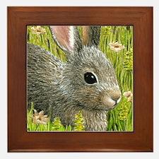 Cute Rabbit art Framed Tile