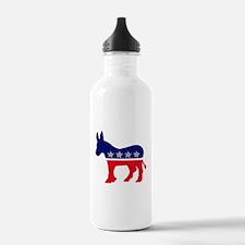 Cute Democrat donkey Water Bottle
