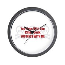 Mess With Chinook Wall Clock