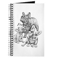 Cute Happy birthday french bulldog Journal