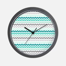 Cute Gray chevron Wall Clock