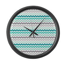 Cute Aqua Large Wall Clock