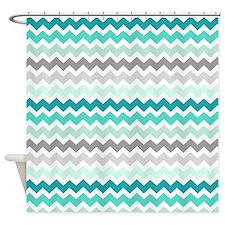 Cute Colors aqua Shower Curtain