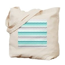 Unique Aqua Tote Bag