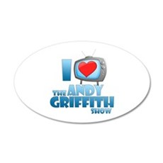 I Heart the Andy Griffith Show 22x14 Oval Wall Pee