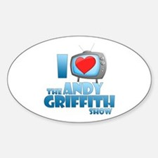 I Heart the Andy Griffith Show Oval Decal