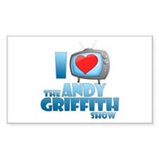 I Heart the Andy Griffith Show Rectangle Decal