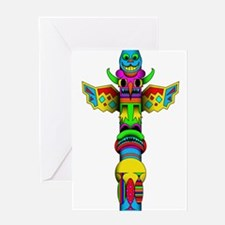 Totem Pole Greeting Cards