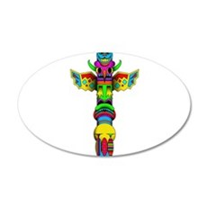 Totem Pole Wall Decal