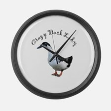 Cute Magpie Large Wall Clock