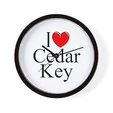 """""""I Love Cedar Key"""" Wall Clock"""