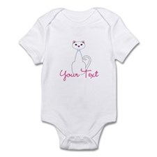 Personalizable White Cat Body Suit