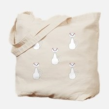 White Cats Tote Bag
