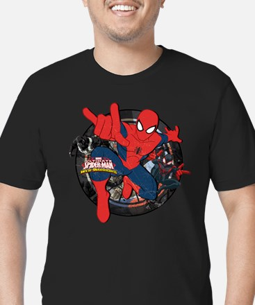Web Warriors Spider-Ma Men's Fitted T-Shirt (dark)
