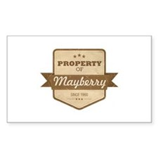 Property of Mayberry Rectangle Decal