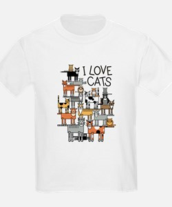 I Love Cats for Light Colors T-Shirt