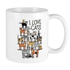 I Love Cats Mugs