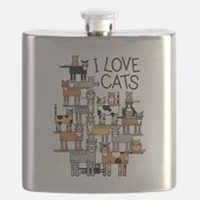 Unique Group of cats Flask