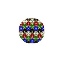 Casino Chips Pattern Mini Button